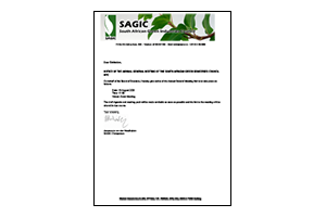 Notice of the Annual General Meeting of the South African Green Industries Council NPC