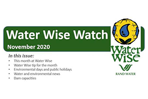 Water Wise Watch – November 2020