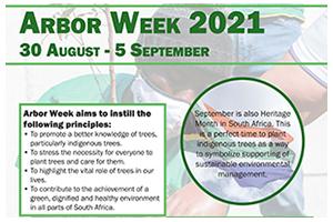 Arbor Week 2021: 30 August – 5 September 2021