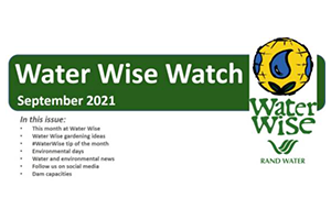 Water Wise Watch – September 2021