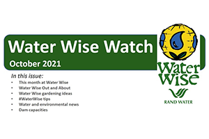 Water Wise Watch – October 2021
